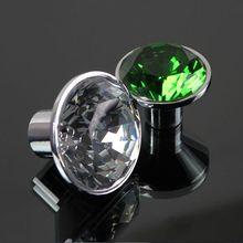 green crystal drawer knobs silver kitchen cabinet handles knobs  crystal dresser cupboard door knobs fashion furnituer knobs