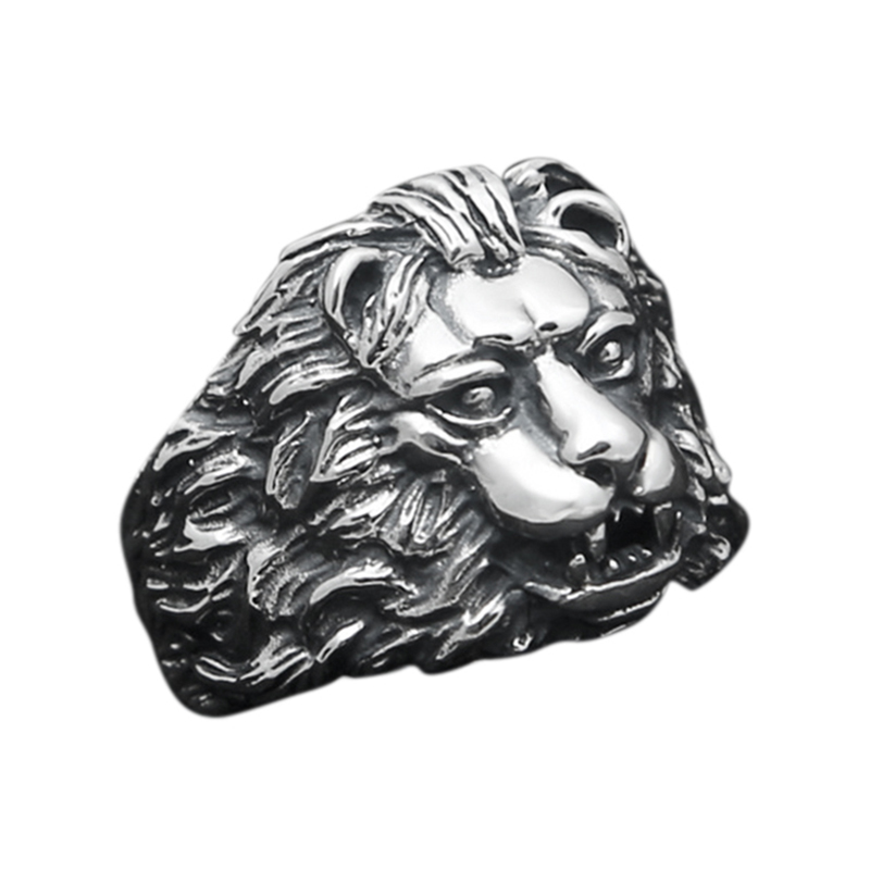 Vintage 925 Sterling Silver Mens Animal Ring Lion King Personality Domineering Men Jewelry Bijouterie Fine soundgarden king animal