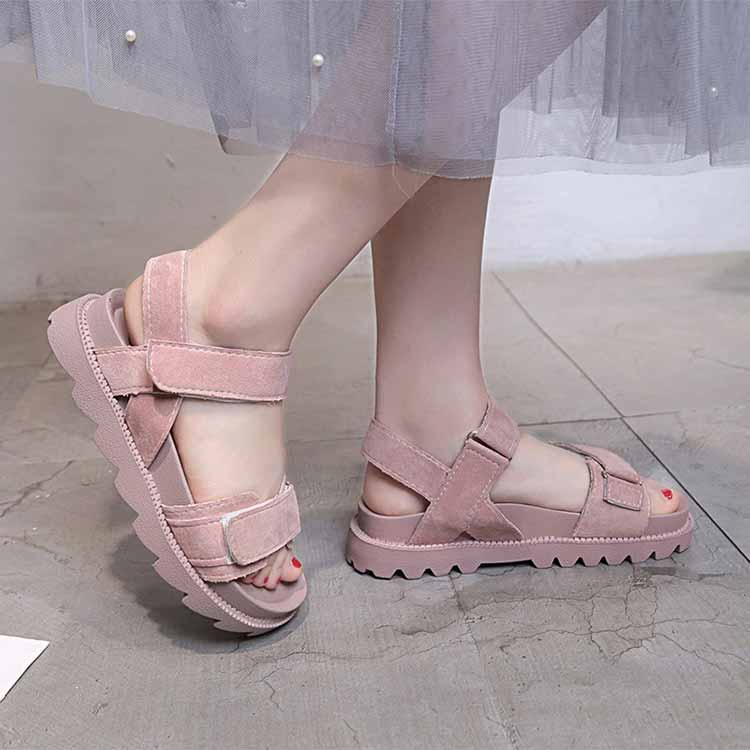 Women shoes adult solid sandals women 2019 fashion med heel height women sandals flat with casual shoes woman sandals female  (7)