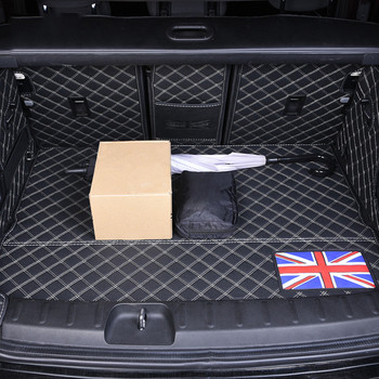 Full Set Leather Cargo Liner Car Rear Trunk Mat Carpet Leather Pad For BMW Mini Cooper F54 Clubman Car Styling Accessories Black