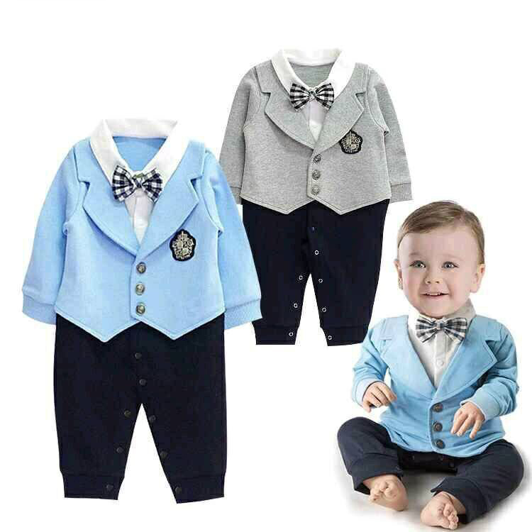 Autumn Newborn Baby Gentleman Rompers Cotton Infant Boys Clothes Set Tie Bow Toddler Kids Jumpsuit One-Piece Girl Clothing Set nyan cat baby boy clothes short sleeves gentleman bow tie vest romper hat 2pcs set outfit jumpsuit rompers party cotton costume