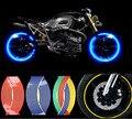 Para os acessórios da motocicleta universal 7 cores moto roda adesivo mt09 yamaha r1 ninja 300 ktm motocross da bicicleta da sujeira pro taper aces