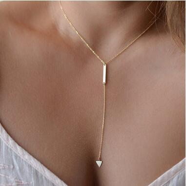 Europe and the United States minimalist simple metal short necklace CND178