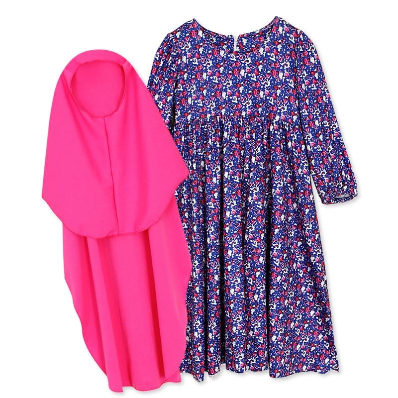 Kids Abaya Turkey Ramadan Children Kaftan Robe Dubai Hijab Muslim Girl Dress Abayas Elbise Caftan Marocain Girl Islamic Clothing