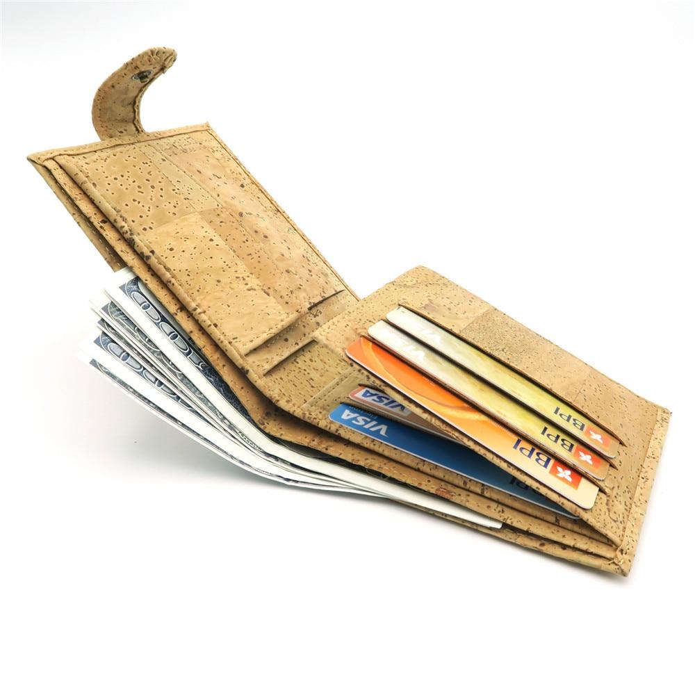 Natural Cork Plånbok för män cork vegan handgjorda avslappnade - Plånböcker - Foto 2