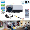 GM50 HD Home Theater Mini Projector for Video Games TV Movie LED Proyector Support HDMI VGA AV MHL Portable 3D Beamer PK YG310