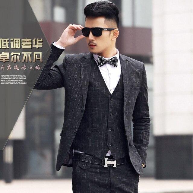 MOGU 2017 New Arriva Linen Blazer Suits Men High Quality Mens ...