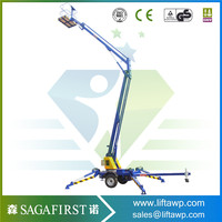 2016 China Street Lamp Maintenance Towable Trailed Hydraulic Boom Lift