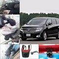Para Nissan Elgrand estacionamento Wi-fi DVR de lente Dupla Do Carro Traço Cam Carro grande angular Caixa Preta Escondida instalação 96658 Novatek hd 1080 p