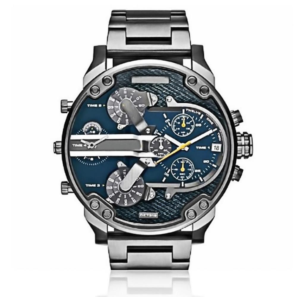 0966e3bc89b Relógios de Quartzo Marca de Luxo Mostrador do Relógio de Aço Inoxidável