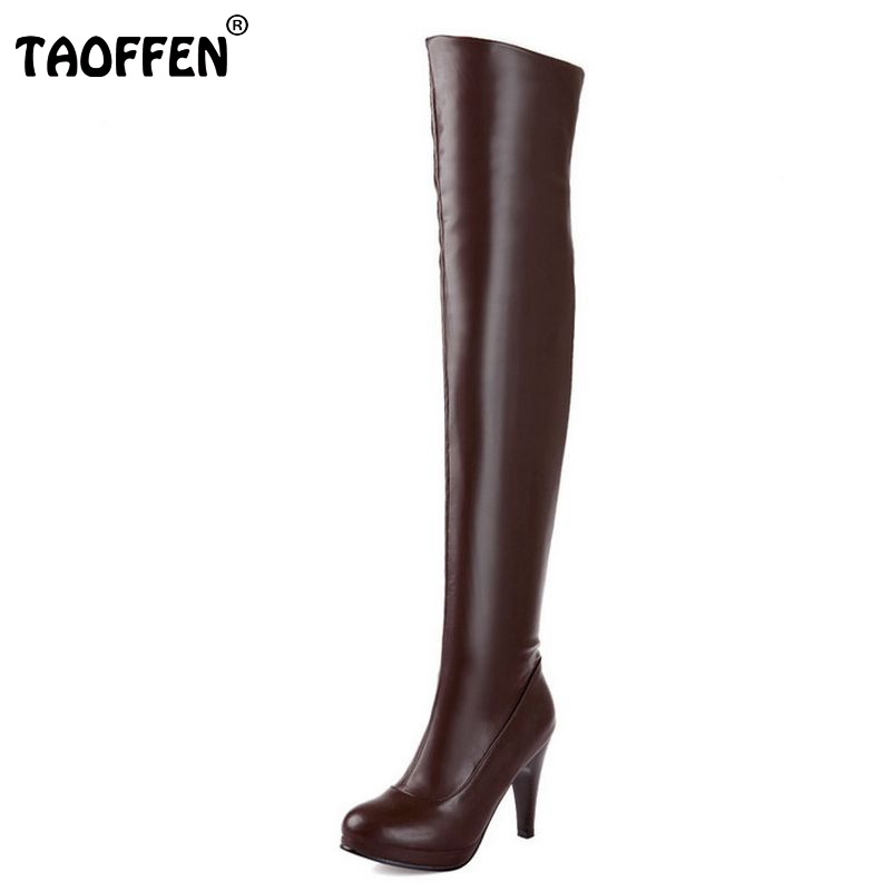 size 32-48 women high heel over knee boots ladies riding fashion long snow boot warm winter botas heels footwear shoes P14733 rizabina size 32 48 women square high heel over knee boot winter warm british boots knight long botas sexy footwear shoes p21743