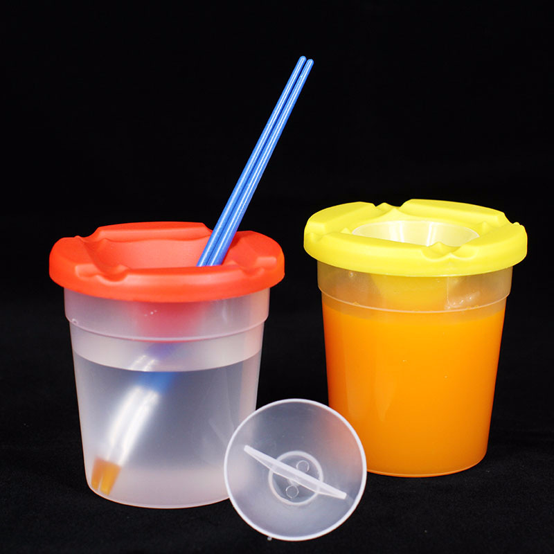 Water Leakage Prevention DIY Children Washing Cup Writing Brush Cup Paint Cup Painting Handmade Accessories Random Delivery