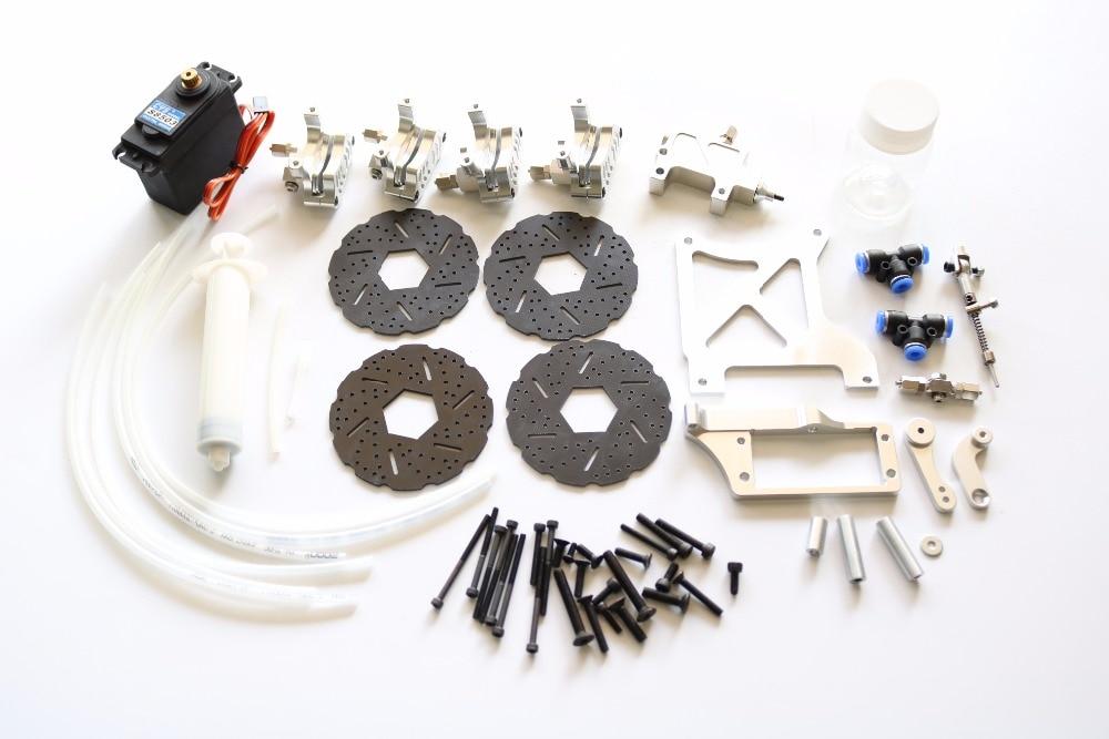 Baja 4 Wheel hydraulic brake kit for 1/5 HPI Baja 5b ss Rovan все цены