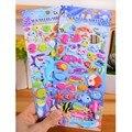 40-50 ШТ./Лист 3D Животные Пузырь Наклейки Мультфильм Пузырь Наклейки Милые Пухлые Наклейки Дети Мальчики Девочки Рождество подарок Игрушки XQ21
