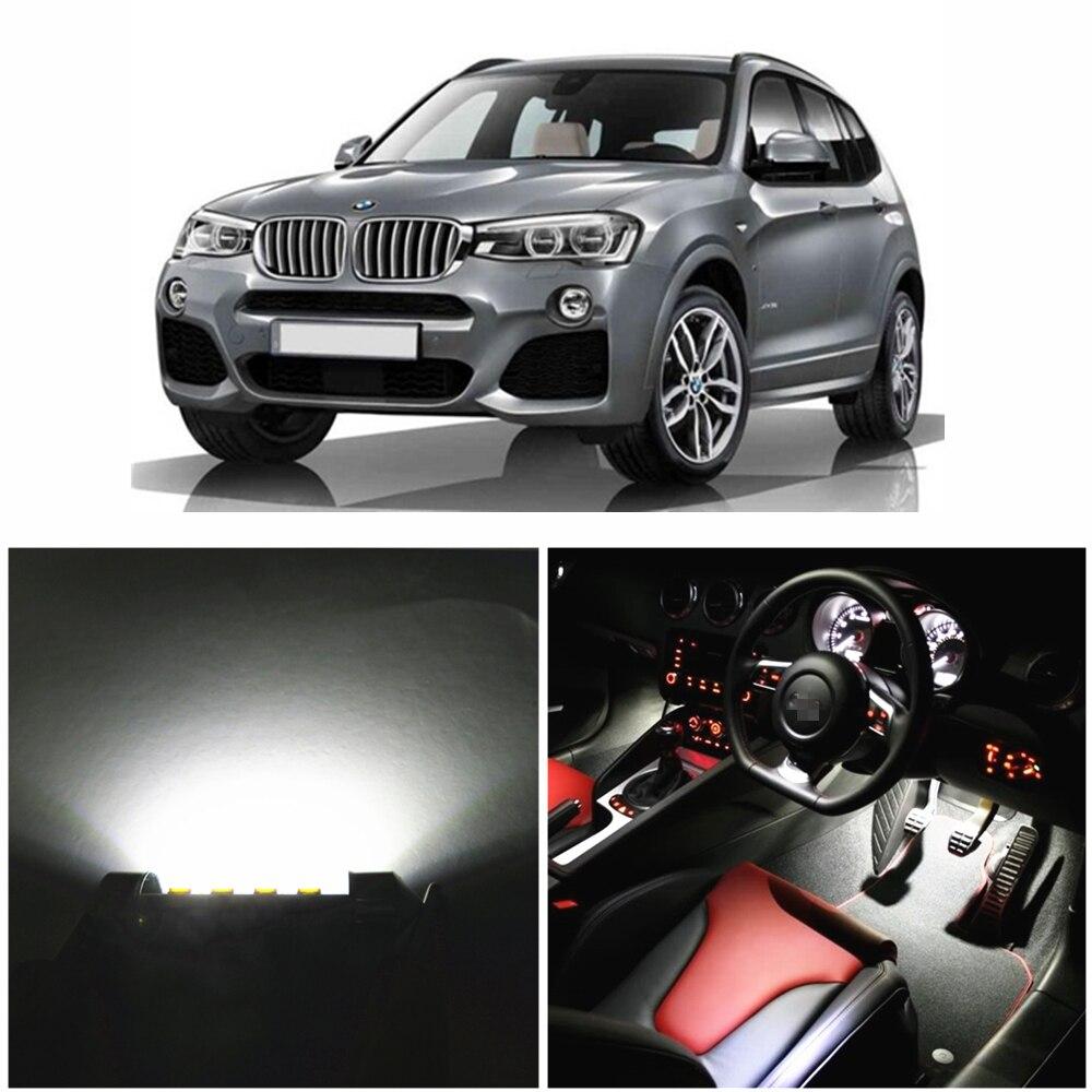 WLJH 20pcs Led Car Canbus Lighting Bulb Glove Compartment Dome Map Vanity LED Interior light kit for BMW X3 F25 2011 2014