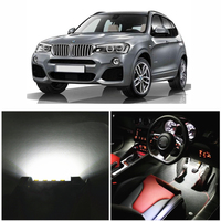 WLJH 20pcs Led Car Canbus Lighting Bulb Glove Compartment Dome Map Vanity LED Interior light kit for BMW X3 F25 2011 2014
