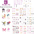 11sheet/lot BJC078-088 Valentine's design Nail tips nail sticker finger nails art accessories for water transfer nail sticker