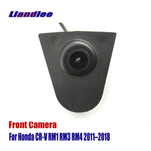 Liandlee AUTO CAM Car Front View Camera Logo For Honda CR-V CRV RM1 RM3 RM4 2011-2018 ( Not Reverse Rear Parking )