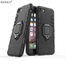 sFor Apple iPhone 8 Case Cover for iPhone 8/7 Finger Ring Phone Case Shell Bumper Protector Hard Back Armor Case For iPhone 7/8
