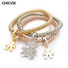 Chicvie манжеты золотые бриллианты и подвески для женщин богемные