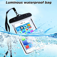 Summer Luminous Waterproof Pouch Swimming Gadget Beach Dry Bag Phone Cover Camping Skiing For Huawei for Cell Under 6 Inch