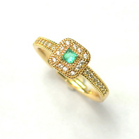 Emerald Ring Solid 925 Sterling Silver Romantic Classic Ring Brincos Wholesale Promotion Free Shipping