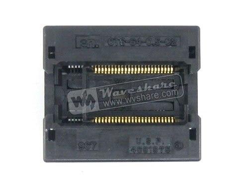 SSOP48 TSOP48 OTS-48 (64)-0.5-02 Enplas IC Test rodage adaptateur de programmation de prise 0.5mm pas 6.1mm largeurSSOP48 TSOP48 OTS-48 (64)-0.5-02 Enplas IC Test rodage adaptateur de programmation de prise 0.5mm pas 6.1mm largeur