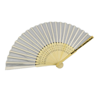 Personalized wedding favors and gifts bamboo silk hand fan for guests 100 pcs