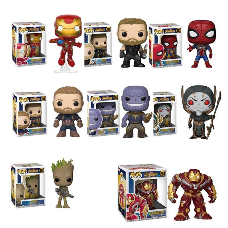 Funko POP La Marvel Avengers3: Infinity War THANOS, HULKBUSTER, THOR Personaggi Dei Cartoni Animati Modello Action Figure giocattoli per il regalo Dei Bambini