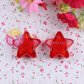 Hot Sell Free Shipping 65pcs/lot 34mm Red Colors Large Star Bead In Bead For Holiday Decoration Accessory