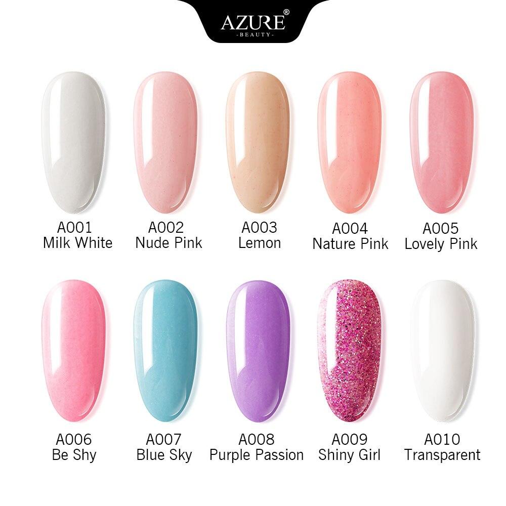 Azure Beauty 14Pcs/Lot Full Set Dipping Powder Base Top Coat Kits DIY Dip Nail Powder Manicure Set B