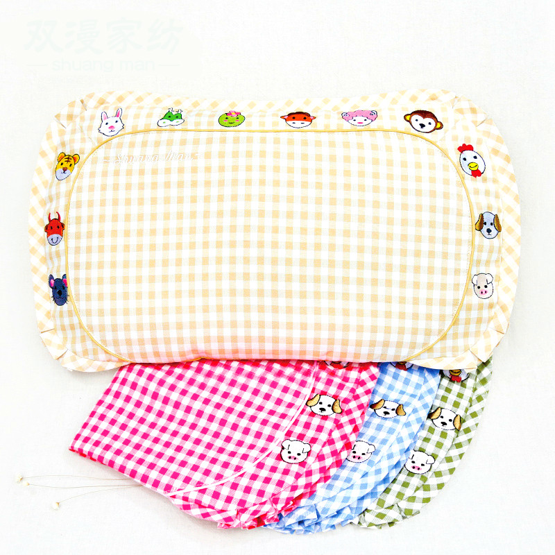 Laxury fashional ramie buckwheat healthy harmless natural environmental child pillow size is 26*46*5cm baby pillow mostly harmless