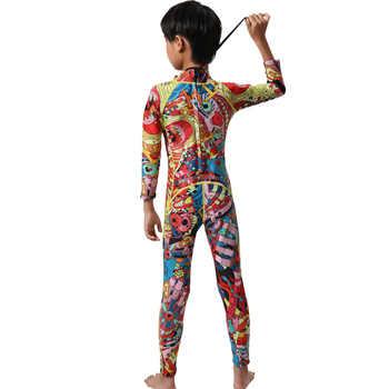 Hisea kids wetsuit full body suit 3mm/2mm neoprene boys girls winter swimwear rash guard