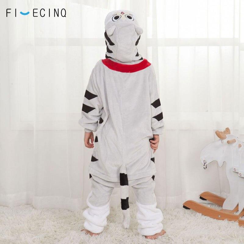 Image 2 - Аниме Chi Cat, комбинезон для косплея, Мультяшные детские пижамы, теплый зимний Мягкий Костюм кигуруми Kawaii, домашняя одежда для маленьких девочек, вечерние костюмы на пуговицах