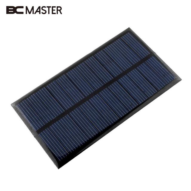 BCMaster 4 pieces Mini 6V 1W Solar Power Panel Bank DIY Home Solar System For Battery Cell Phone Chargers Portable Solar Panel