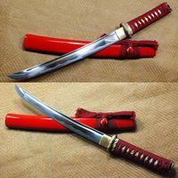 Полный Тан ручной работы острый клинок Танто японский самурайский короткий меч # S292