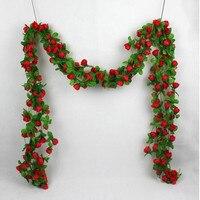 Toptan İmitasyon çiçek zincir, ipek çiçek, 2-pirinç çiçek plastik çiçek çay poşetleri
