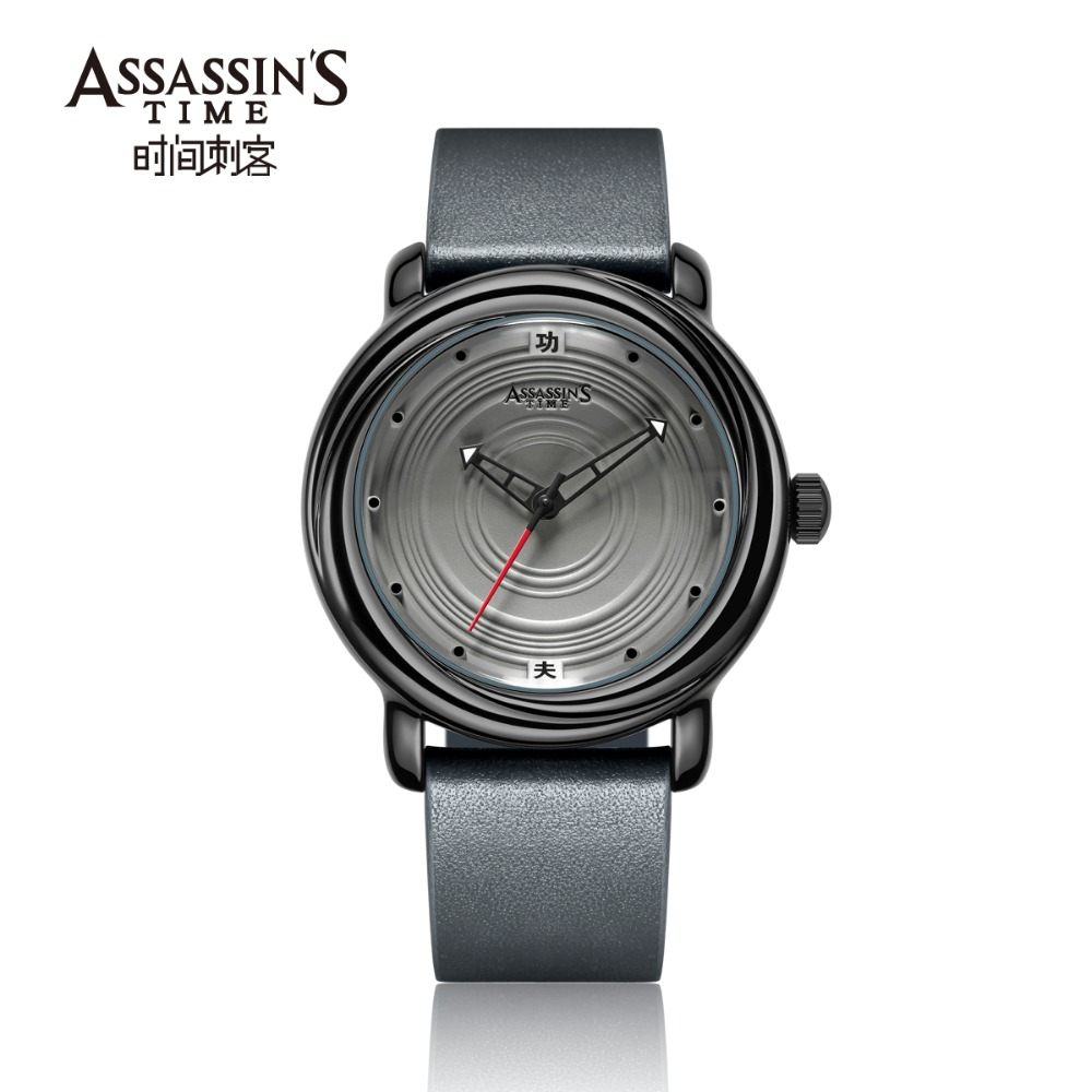 Assassin's Time Mens Luxury Vattentät Quartz Watch Man Läder Sport - Herrklockor - Foto 4