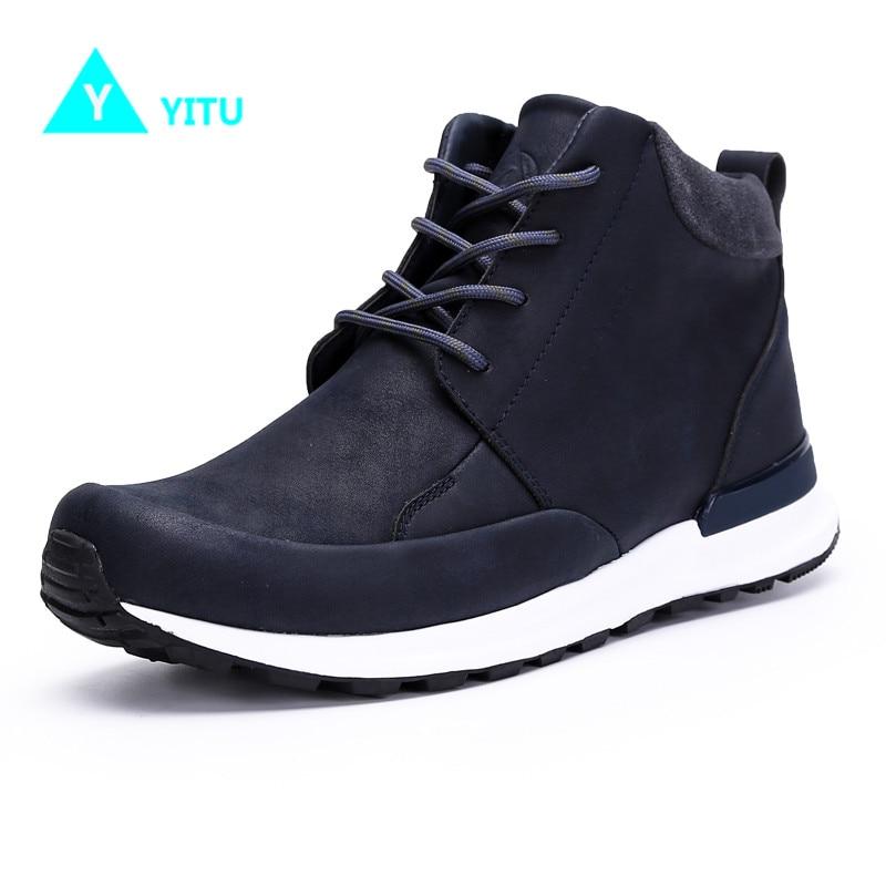YITU Waterproof Camping Sneakers Climbing Mountain Shoes Outdoor Hiking Sports Shoes For Men Anti- slip Footwears Freeshipping