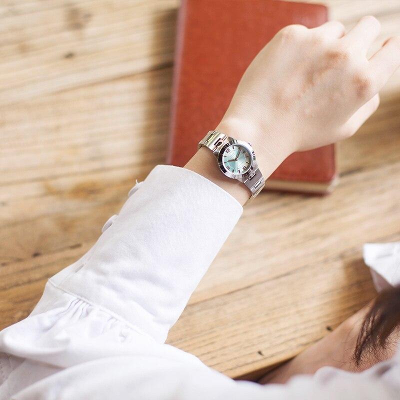 Casio watch female simple steel belt light green small plate quartz ladies watch LTP-1241D-3A часы casio ltp 1241d 4a2