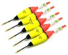 5 Pcs 10g EVA Floats + 10Pcs Fishing Glow Sticks Long Vertical Luminous Night Lighting Fishing Floats Bobber Set