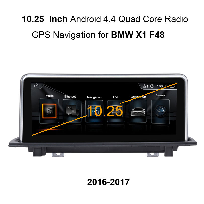 10 25 Touch Android 4 4 Car GPS Navigation for BMW X1 F48 2016 2017 Radio 10 25\