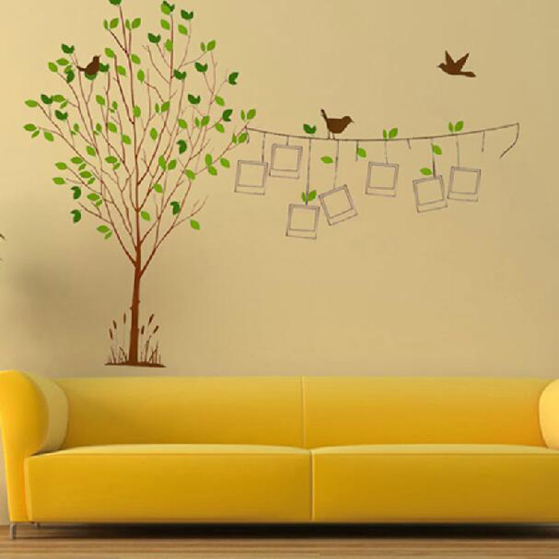 Extra Large 60*90cm green Photo Frame Tree Wall Sticker Home ...