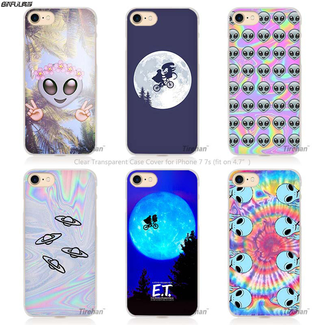 BiNFUL ET E T the Extra Terrestrial Hard Transparent Phone Case Cover Coque for Apple iPhone 4 4s 5 5s SE 5C 6 6s 7 Plus