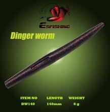 Leurre Souple Dinger Worm 5.5″ Silicone Bait 10pcs Fishing Lure Soft Esfishing 14cm/8g  Artificial Bait Crankbait Iscas Tackle