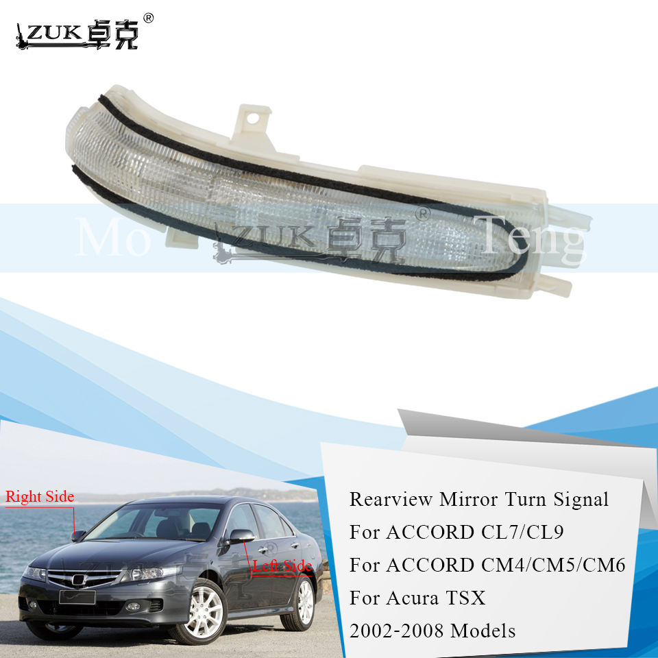 ZUK Outer Rearview Mirror LED Lamp Turn Signal Light For Acrua TSX For ACCORD CM5 CM6 CL7 CL9 2002 2003 2004 2005 2006 2007 2008