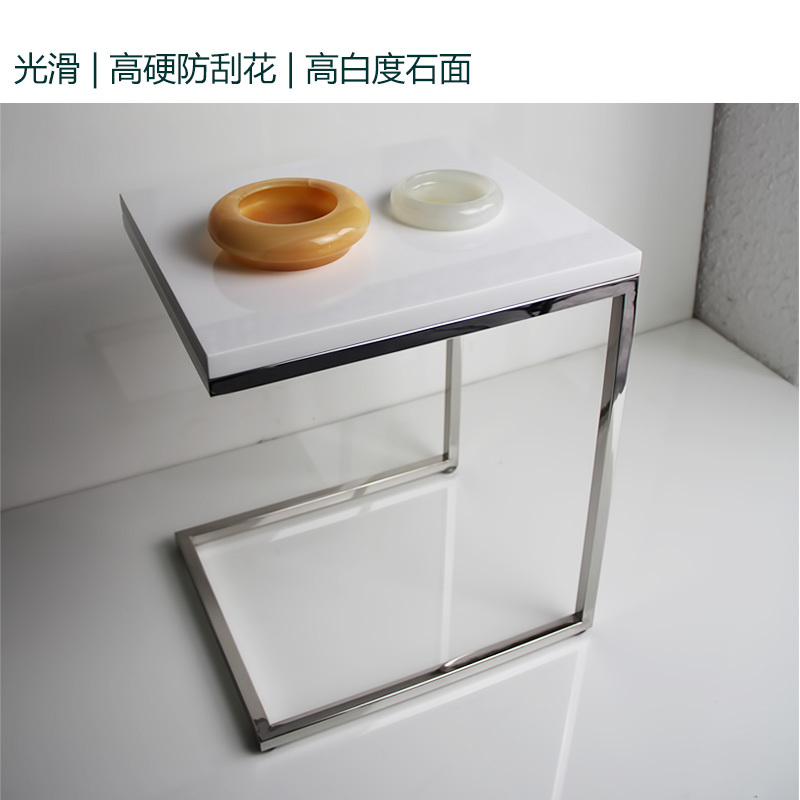 Minimalist Design Stainless Steel Side Table A Few New White Marble Modern  Minimalist Fashion Designer Furniture In Massage Tables From Furniture On  ...