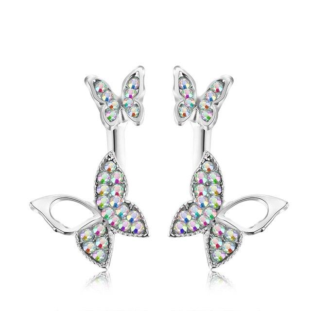 Manufacturers selling hanging butterfly earrings two wear fashion temperament Korean earrings fine jewelry for women 3