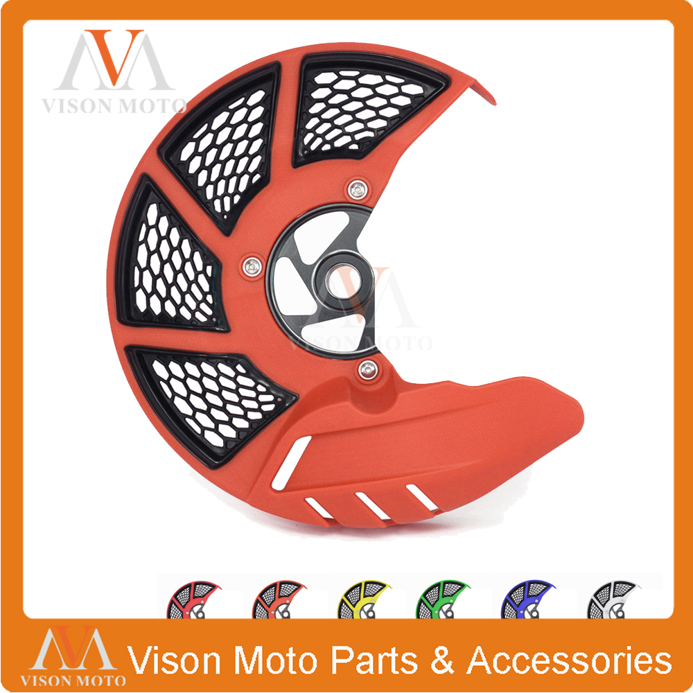Front Brake Disc Rotor Guard Cover Protector For KTM SX SXF XC XCF 125 200 250 300 350 400 450 500 505 525 530 2015 2016 2017 motorcycle front rider seat leather cover for ktm 125 200 390 duke