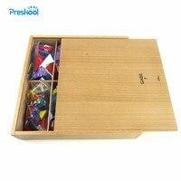 Montessori Baby Kids Toy Froebel Wood Colorful Geometric Shapes Blocks Learning Educational Preschool Training Brinquedo Juguets
